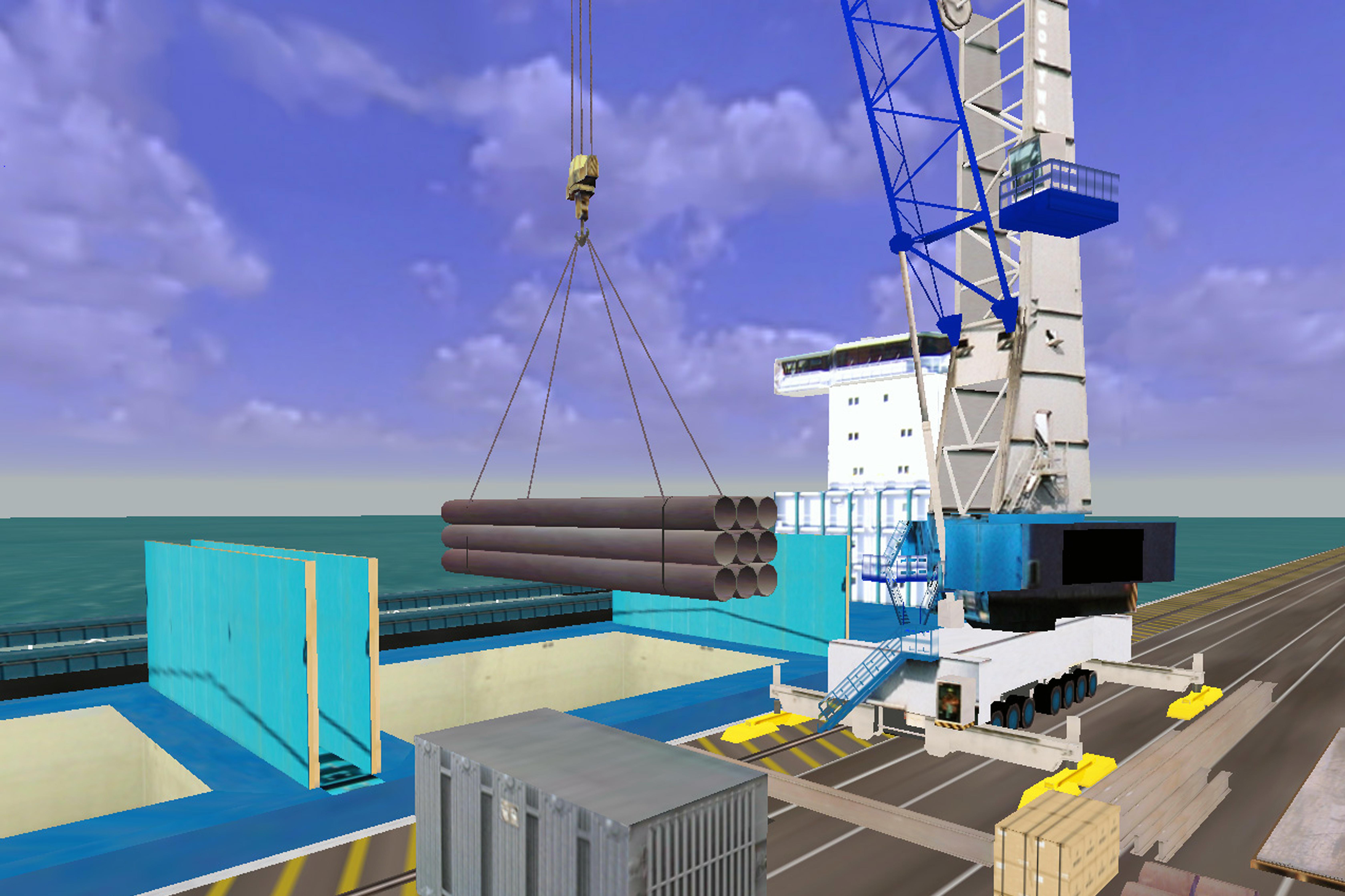 Mobile Harbour Crane Simulator